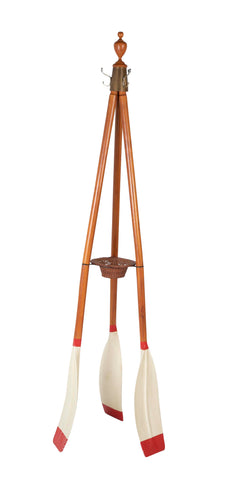 Vintage Coat Stand made from 3 Rowing Oars