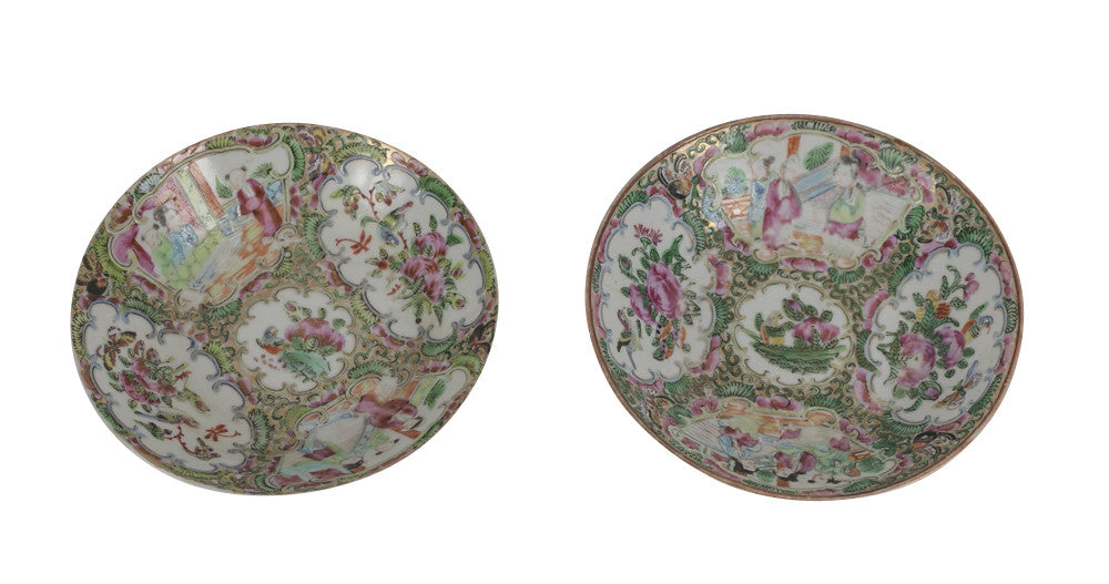 Pair of 18th Century Chinese Export Bowls