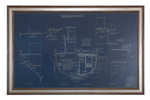 Pair of Original Blueprints for General Seafood Co. By John Alden