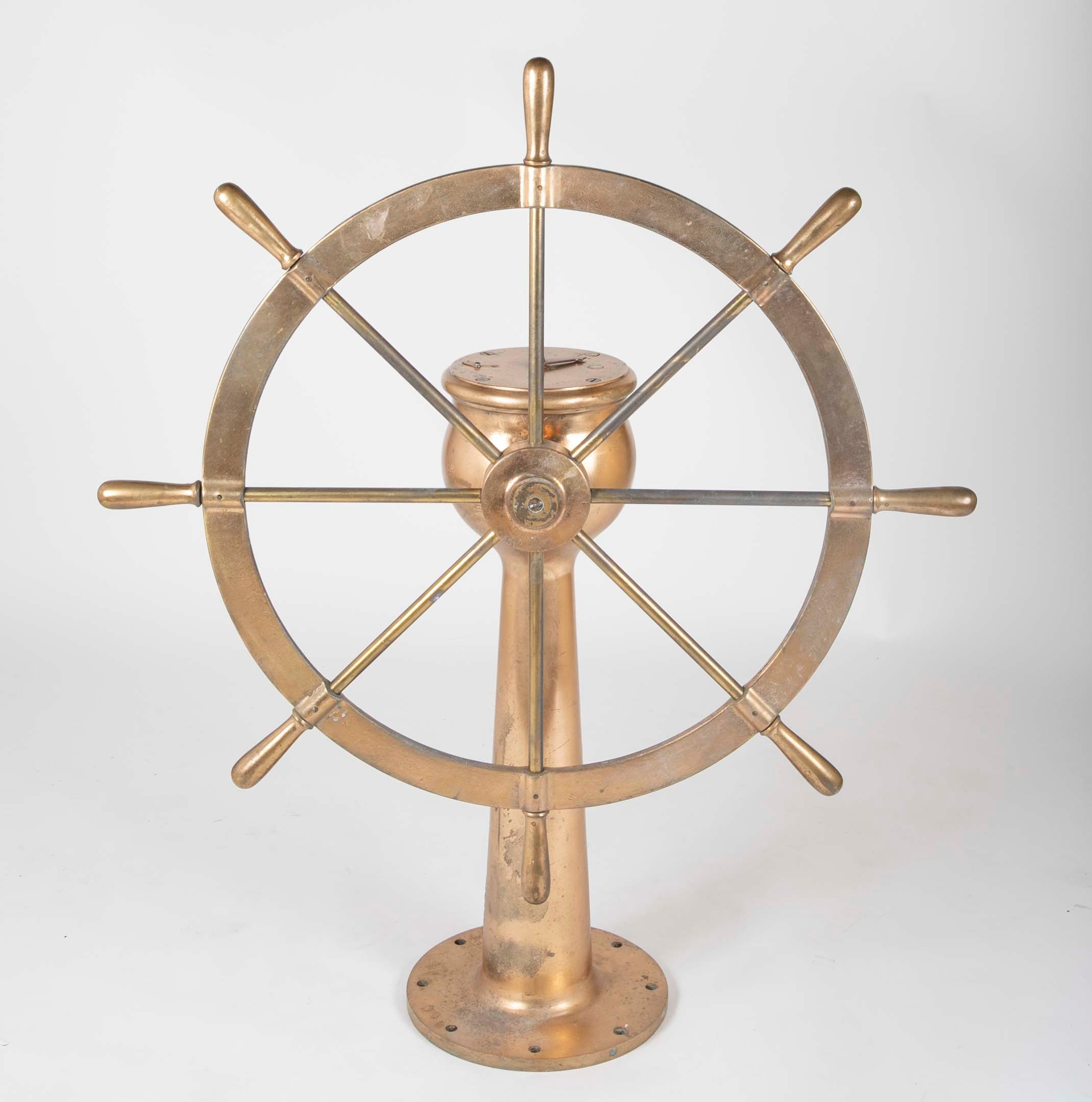 World War II US Navy Bronze Ship's Wheel
