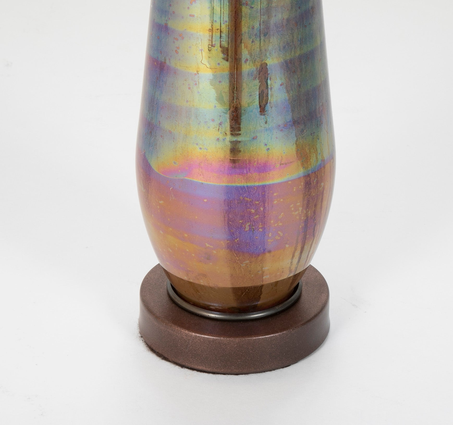 Mid-Century Iridescent Glass Lamp