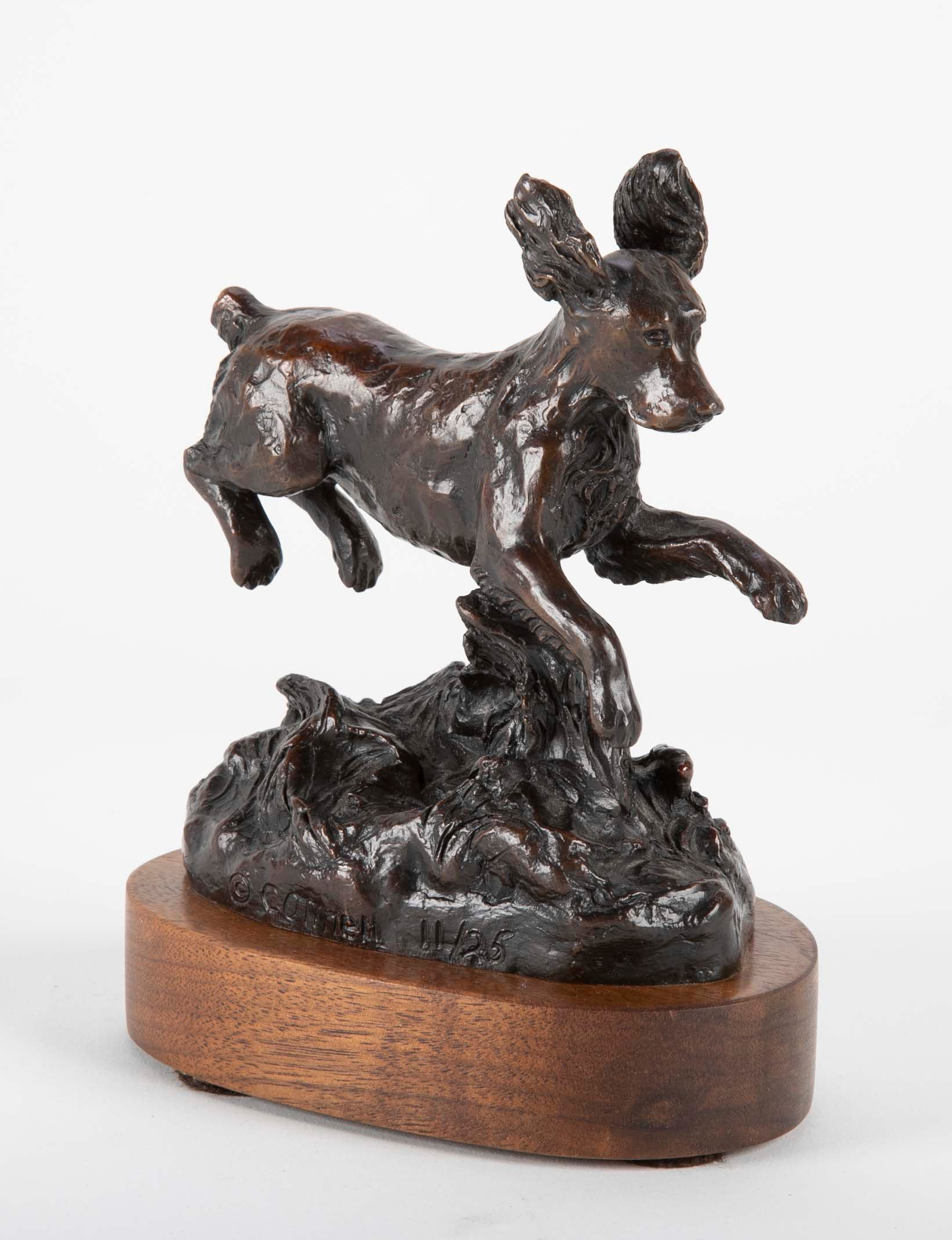 Bronze Dog Sculpture by Bunny Connell