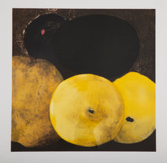 """5 Lemons, a Pear and an Egg"" by Donald Sultan ( American, b. 1951 )"