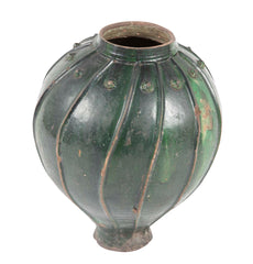 Early 18th Century Italian Green Glazed Wine Jar