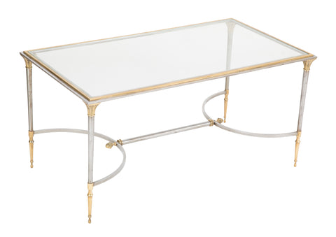 Steel & Bronze Maison Charles Glass Top Coffee Table