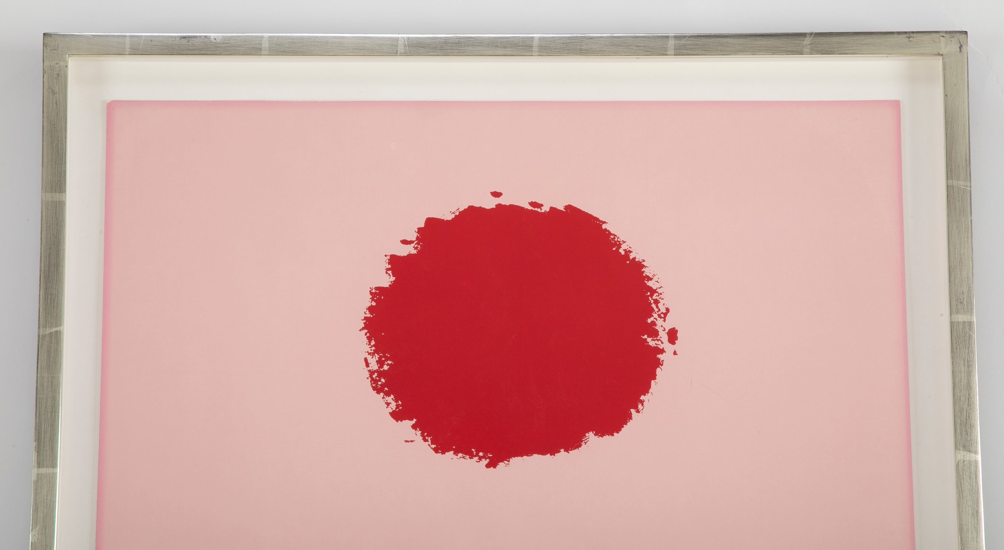 "A Silkscreen Titled ""Pink High"" by Adolph Gottlieb"