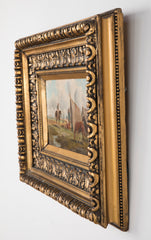 Pair of 19th Century Oil Paintings by Hungarian Artist of a Gypsy Wedding