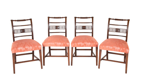 Set of Four Regency Mahogany Side Chairs
