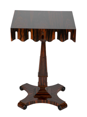 An Art Deco Pedestal Table with Pelmet Form Apron