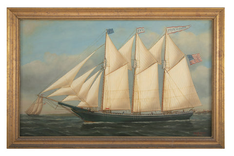 "Portrait of the Ship ""Fred W. Chase"" of Maine"