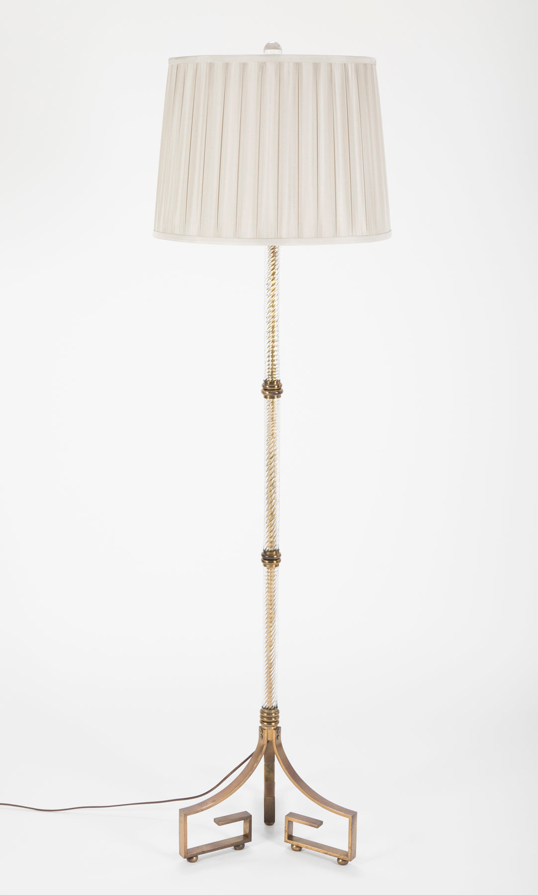 Bronze and Crystal Floor Lamp