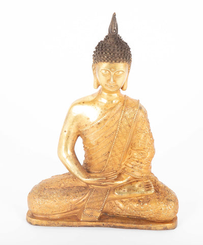 Chinese Gold Color Sitting Buddha