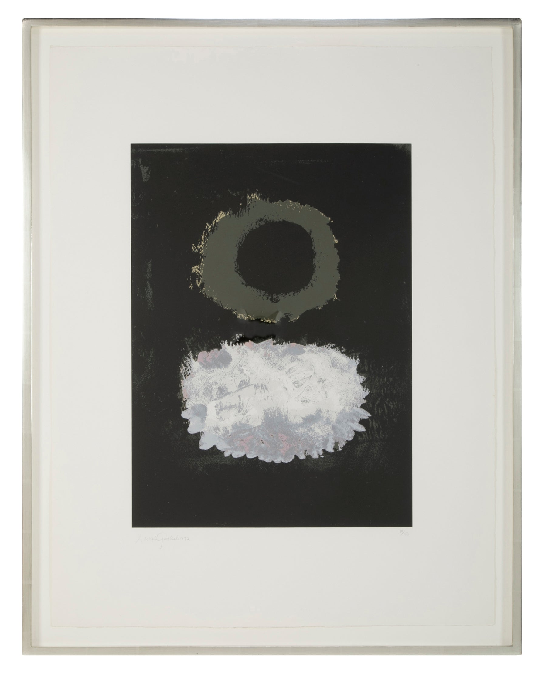 A&DHOLD   Black Field, Adolph Gottlieb Screen Print
