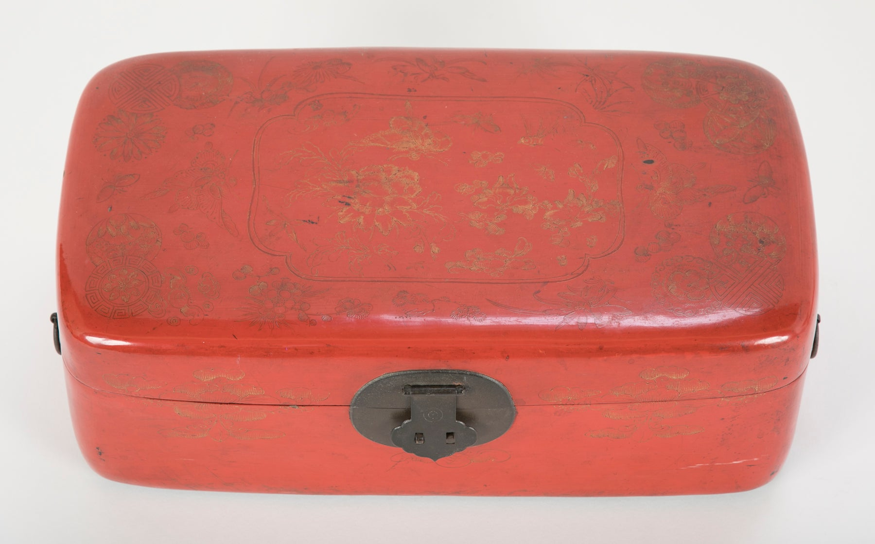 Chinese Red Lacquered Box