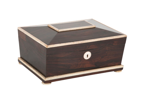 Rosewood and Whalebone Sewing Box