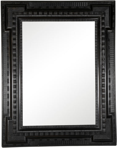 Early 19th Century Mirror with Ebonized Frame in the Dutch Style
