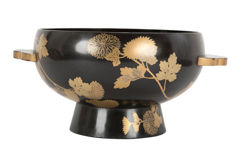 Japanese Black and Gold Lacquer Bowl
