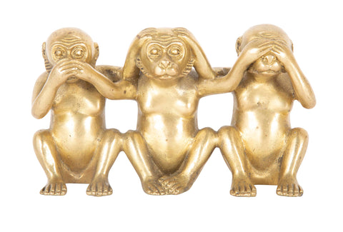 Mid-Century Brass Monkeys
