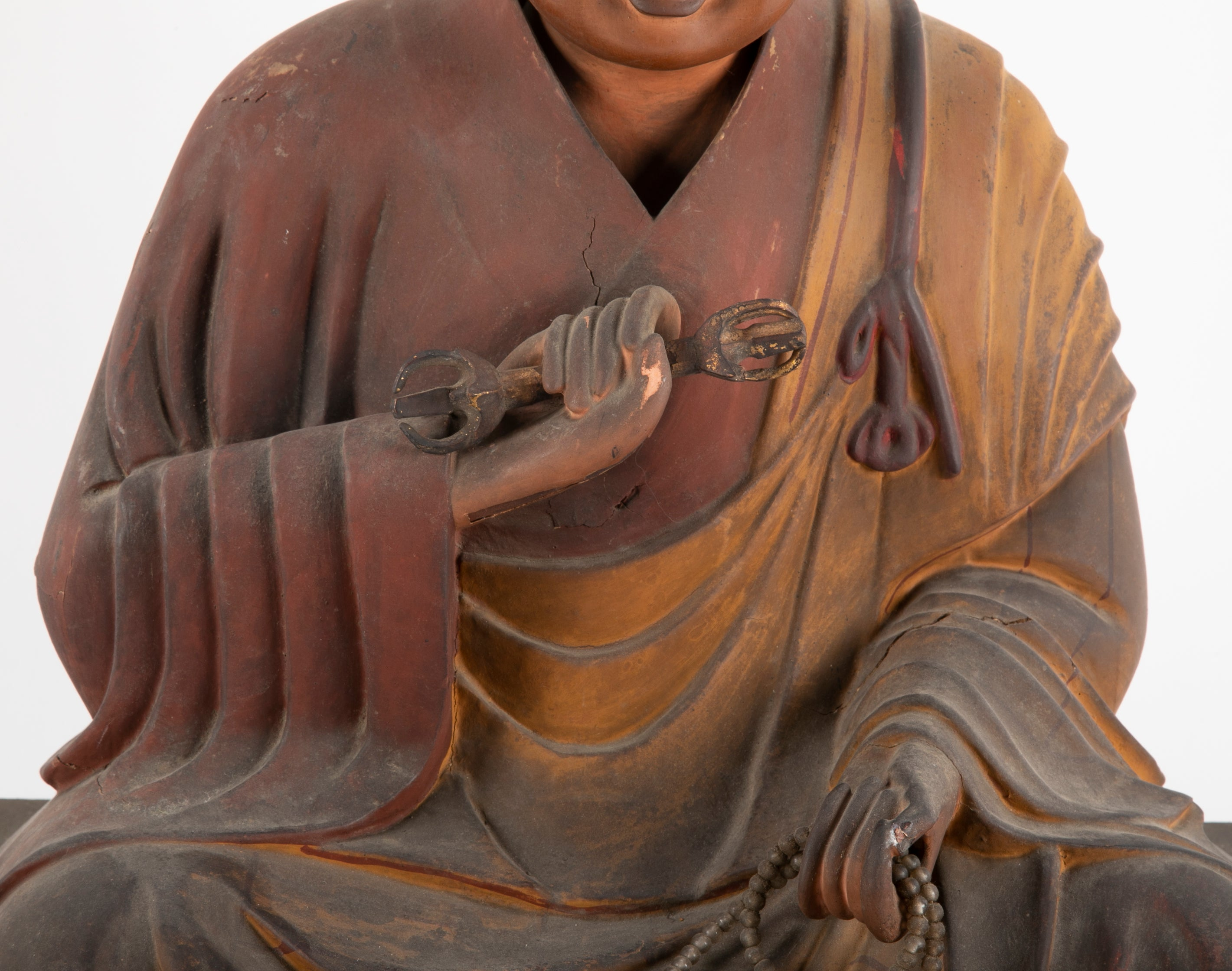 Japanese Carved Wooden Monk
