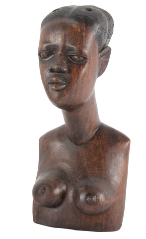 African Carved Bust