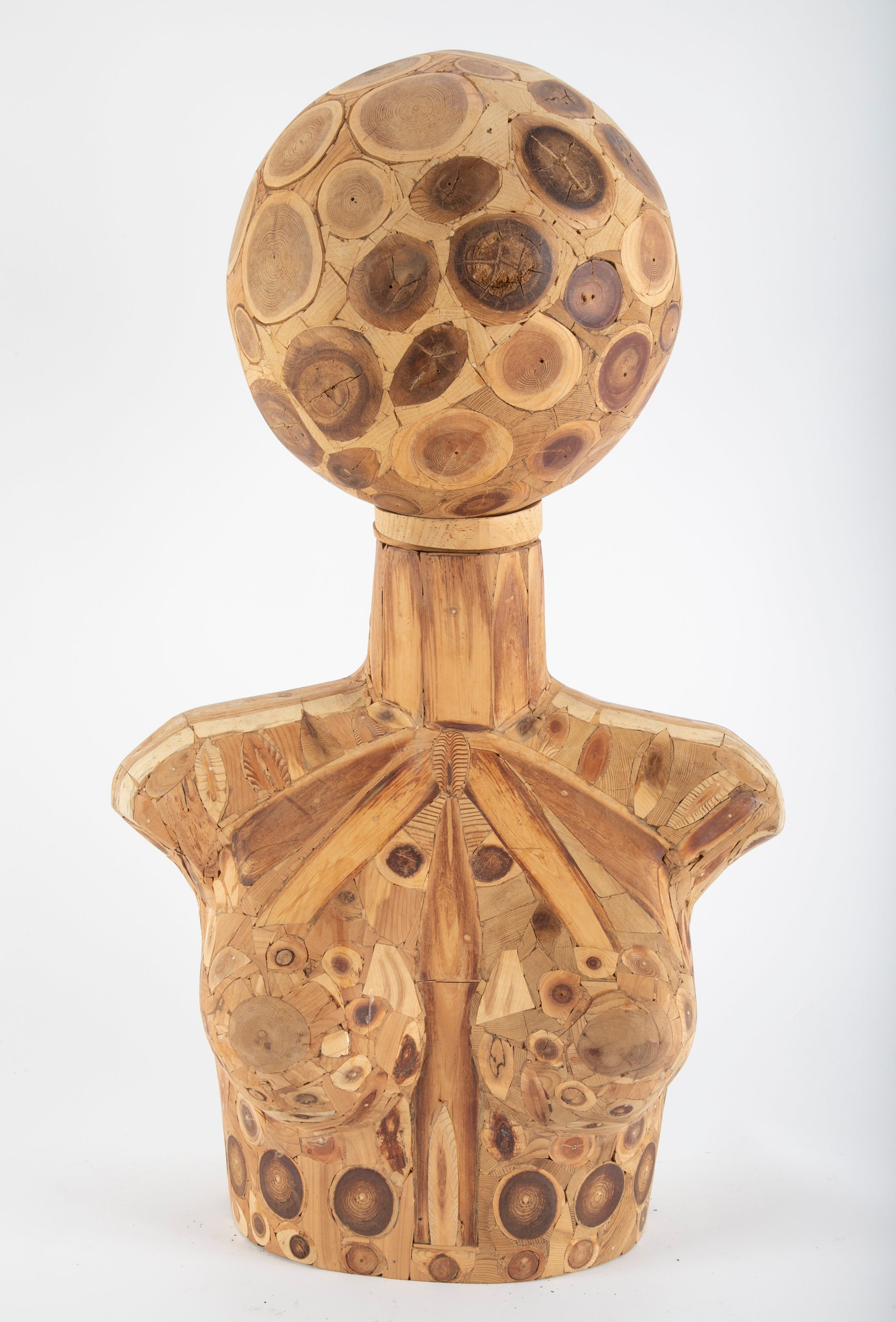 Female Wooden Bust