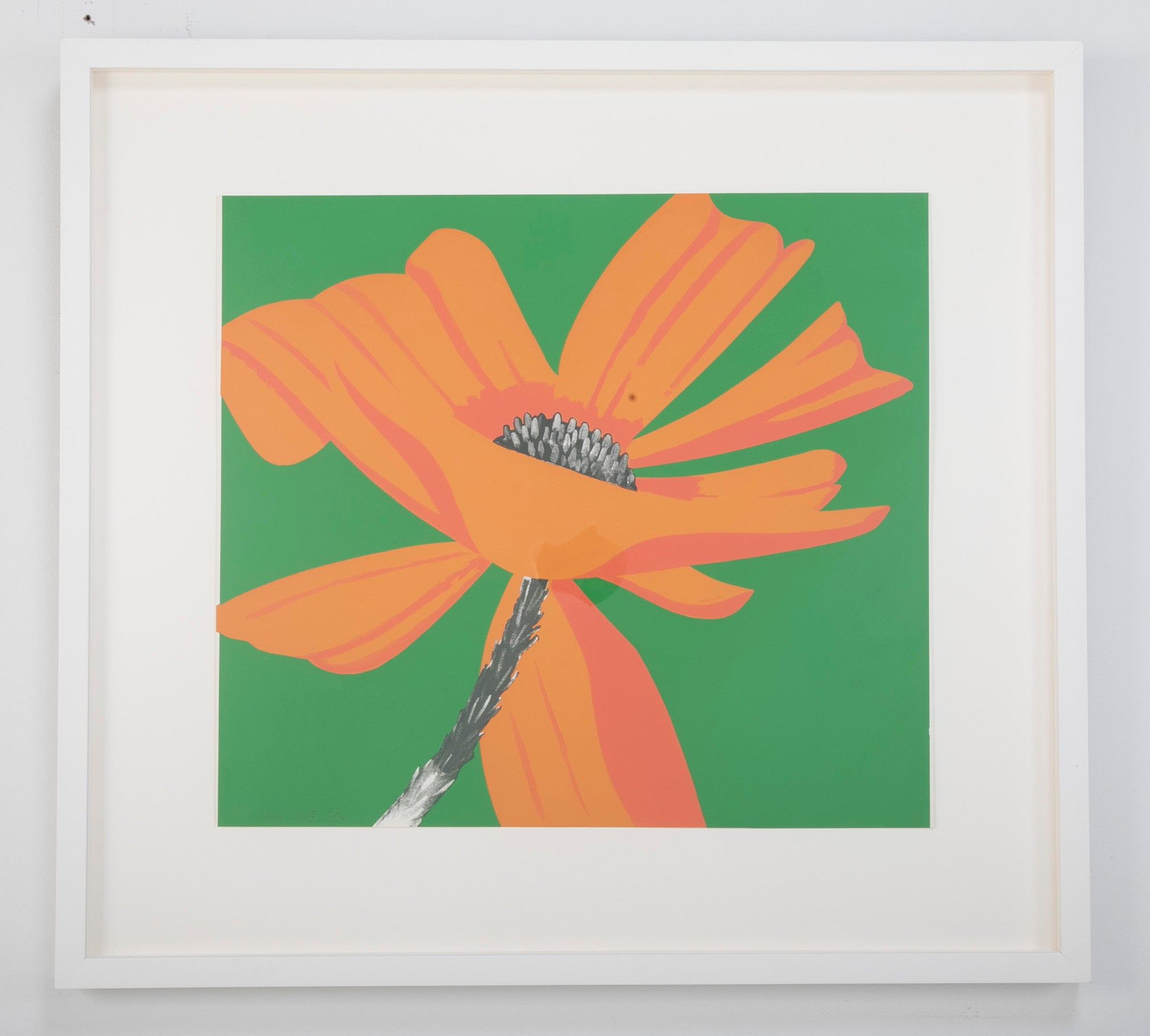 """Lilies"" Screen Print by American Artist Alex Katz, Signed and Numbered"