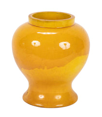 19th Century Japanese Yellow Glaze Jar