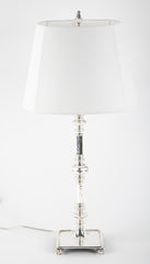 Silvered Bronze 20th Century American Table Lamp