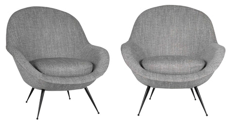 Pair of Italian Modernist Chairs