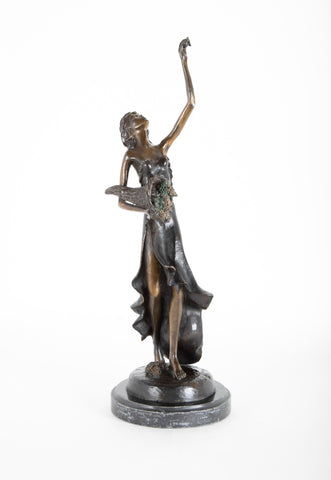 Bronze Sculpture of a Woman Signed By Demetre H. Chiparus