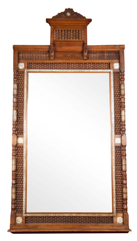 Late 19th Century Monumental Anglo-Indian Mirror