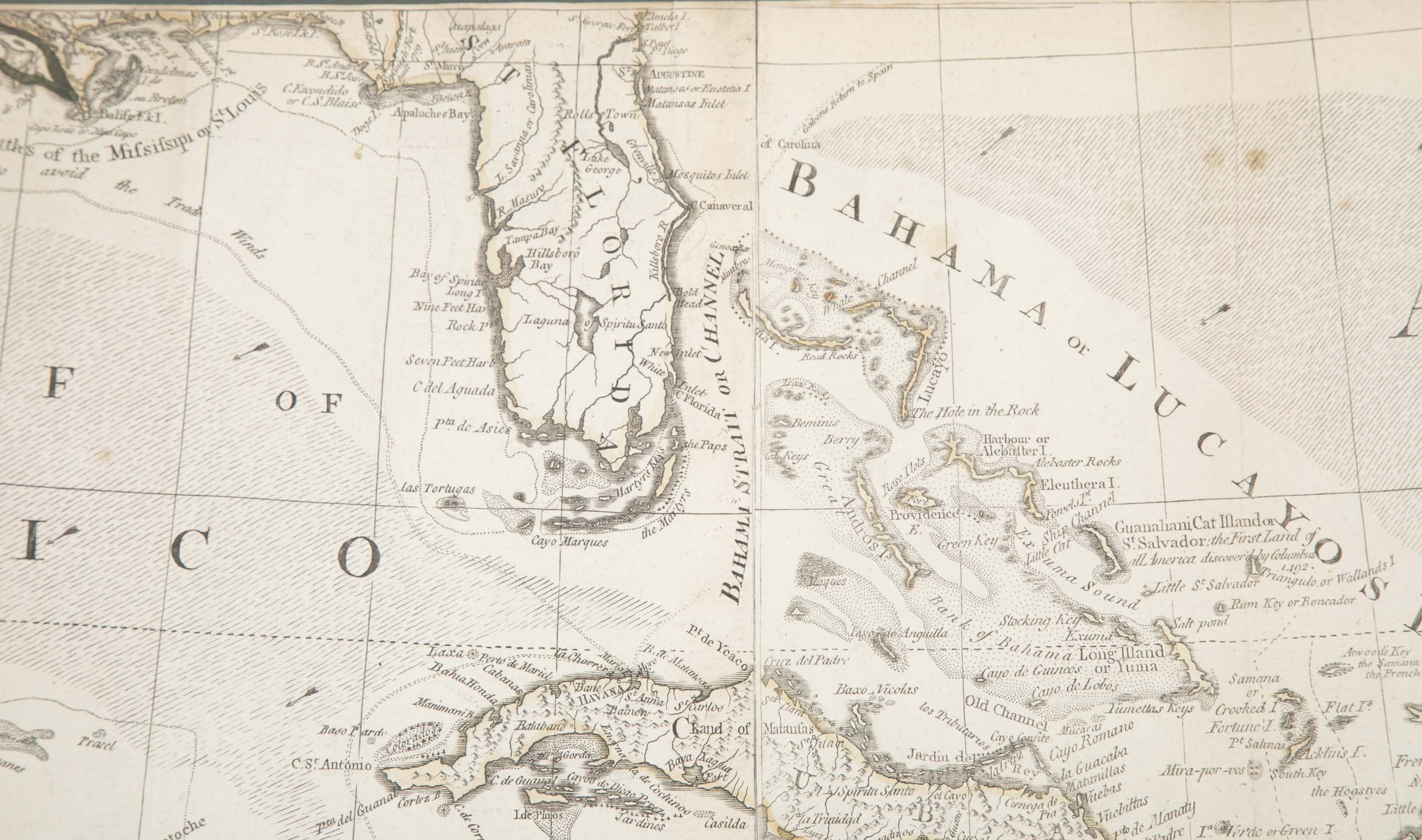 Pair of 18th Century Maps Showing the Gulf of Mexico & North America by Emanuel Bowen
