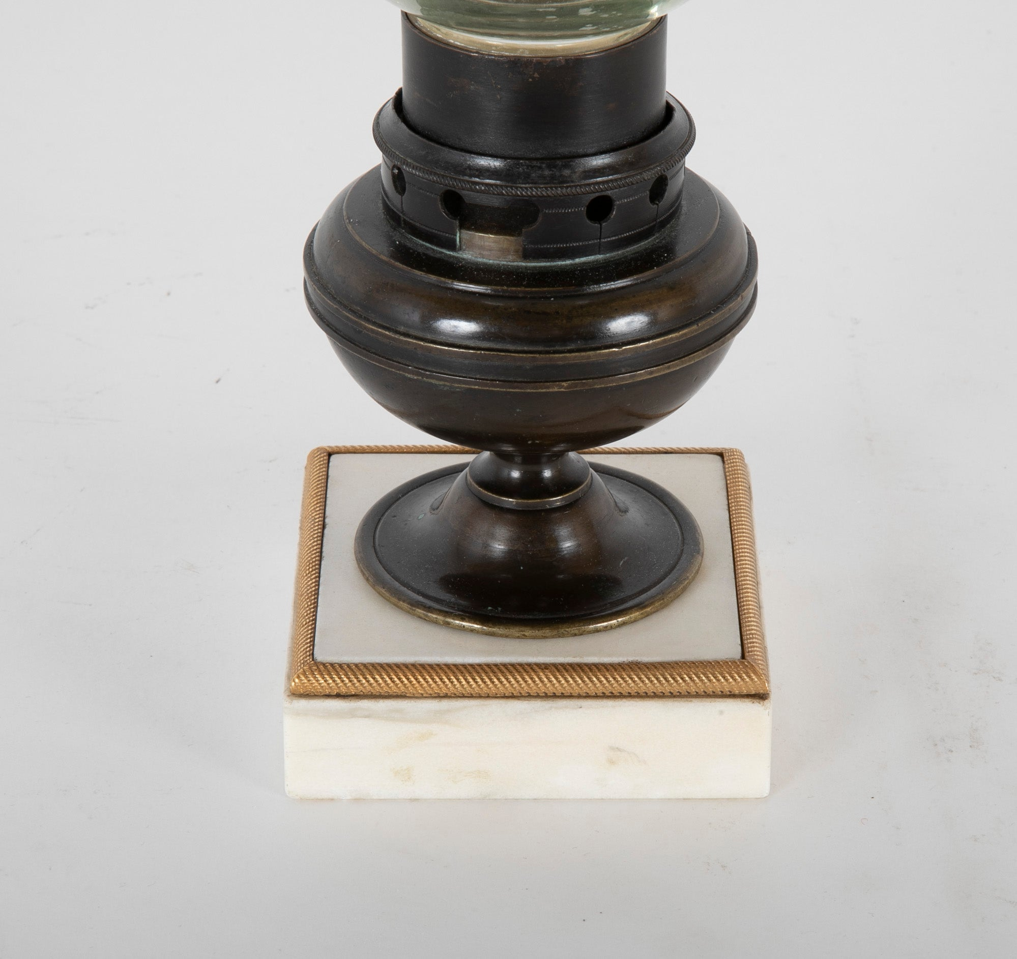 A Pair of Regency Photophores Formerly Oil Lamps