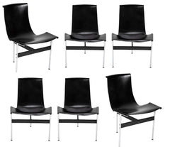 Set of Six T Dining Chairs Designed by Katavolos & Littell & Kelley