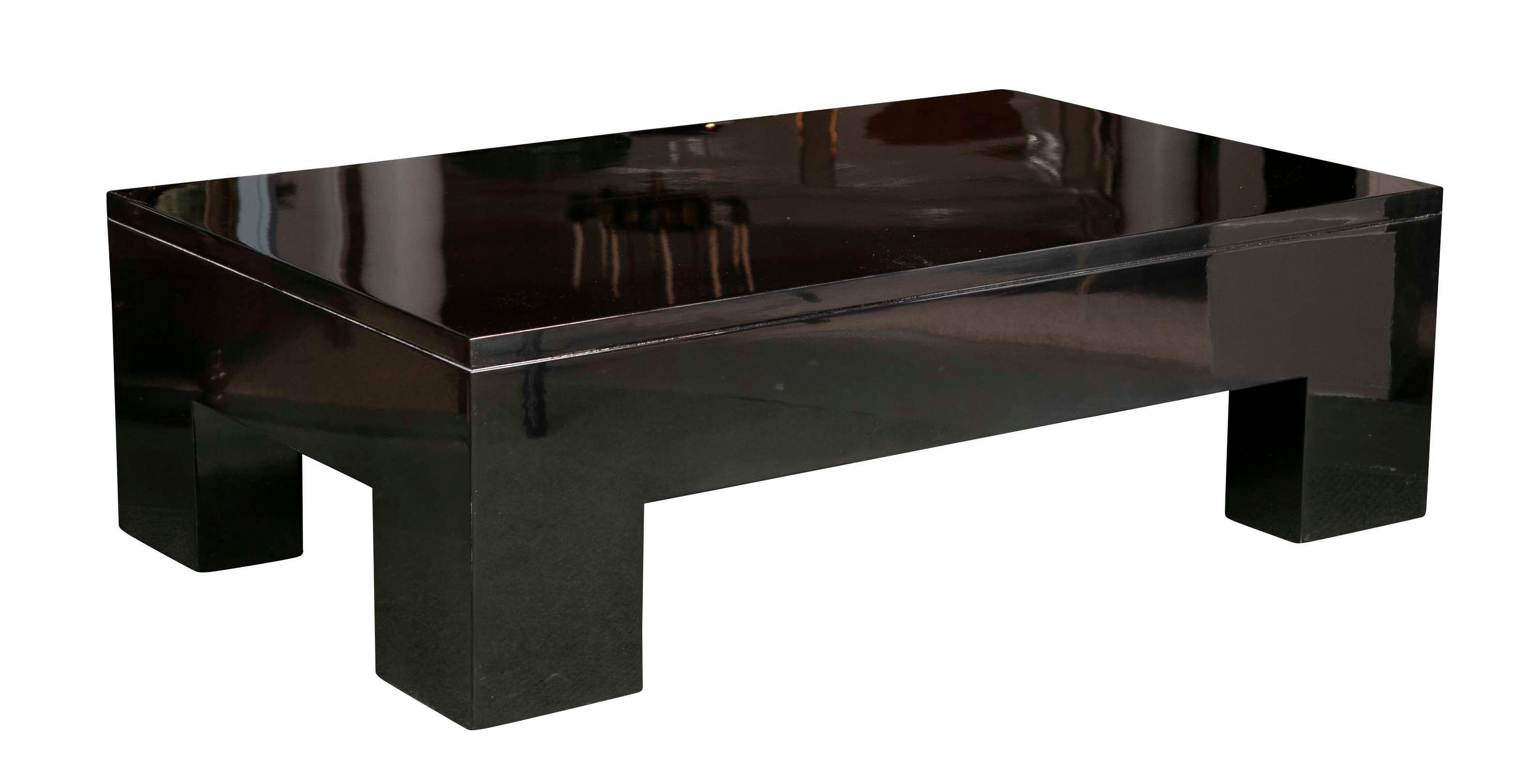 - Contemporary Black Lacquered Coffee Table – Avery & Dash Collections