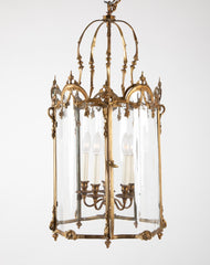 Bronze Five Sided Neo-Classic Form Lantern