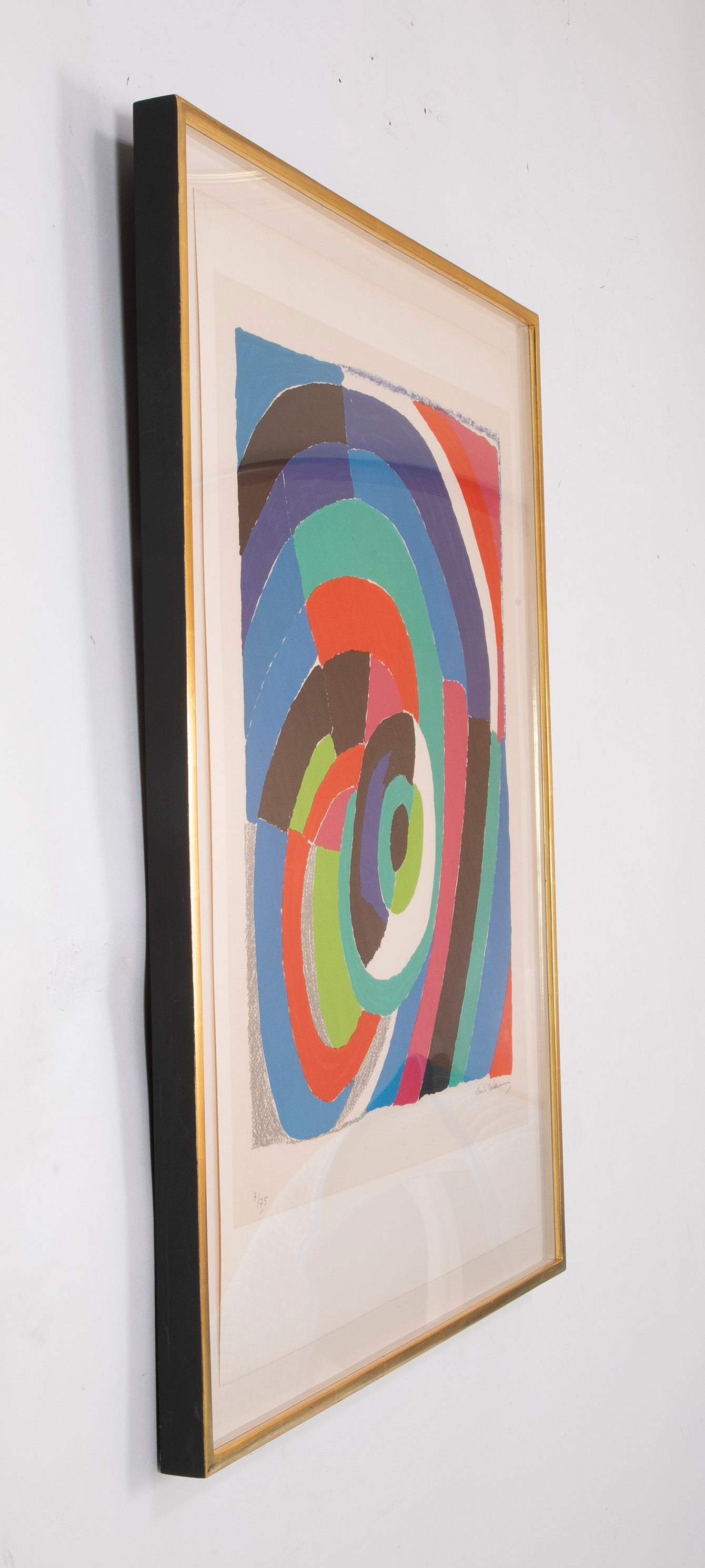 """L'oeil"" Lithograph in Colors by Sonia Delaunay"