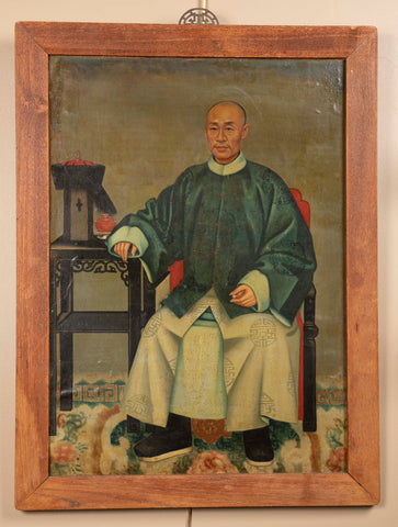 Chinese Export Painting Of A Hong Merchant