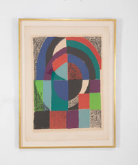 """Cathedrale, 1971"" Lithograph in Colors by Sonia Delaunay"