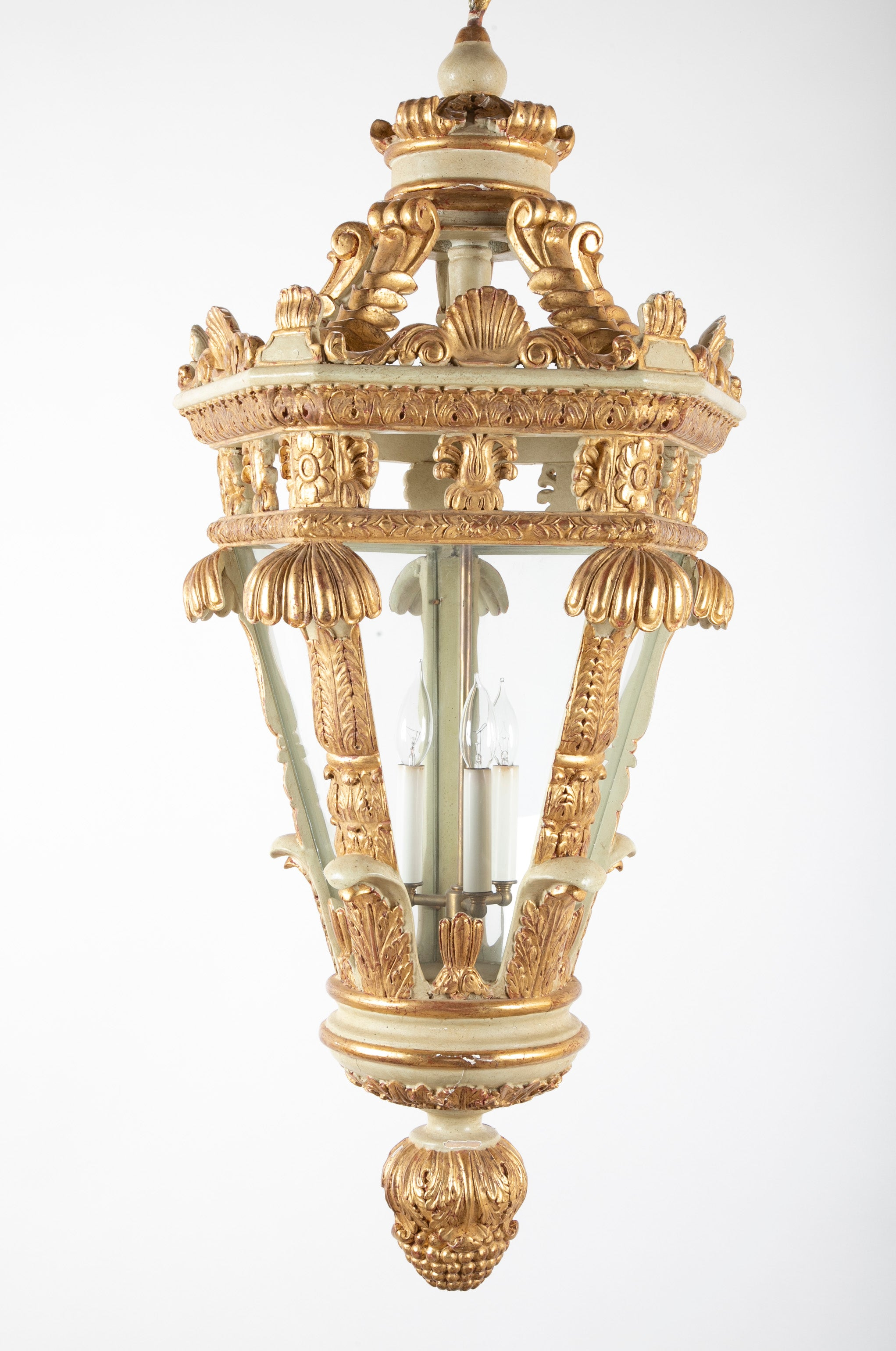 Italian Painted and Gilded Five Sided Lantern