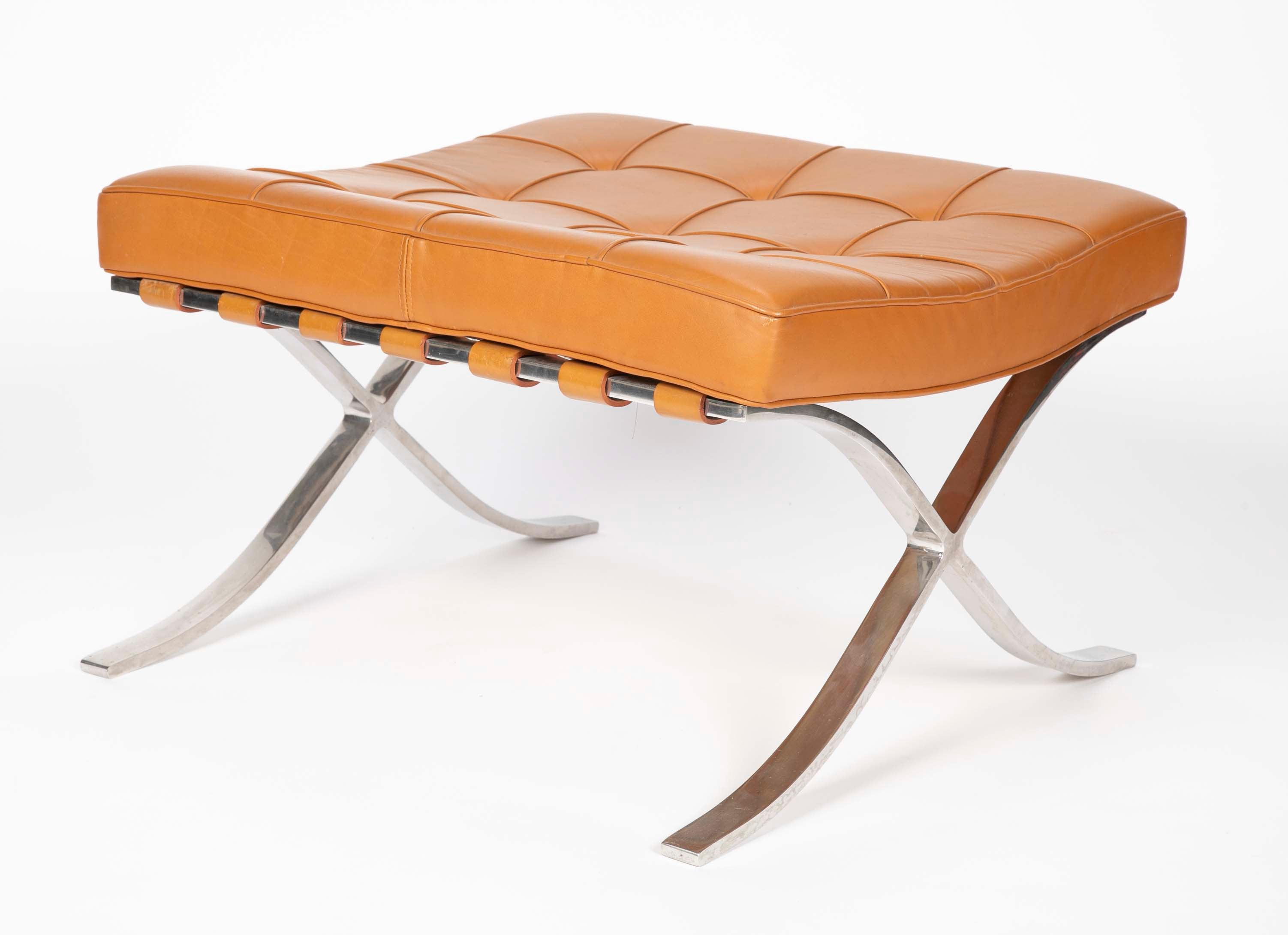 Pair of Mies van der Rohe for Knoll Barcelona Ottomans