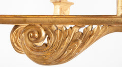 Continental Carved and Gilded Classical Chandelier with Drop Finial