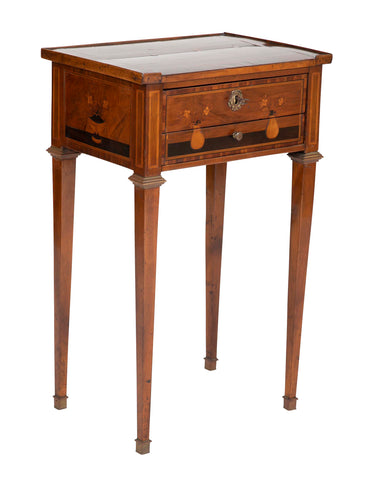 Late 18th Century Italian Two Drawer Sewing Stand