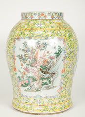 Chinese Baluster Vase with Cover and Famille Rose Images