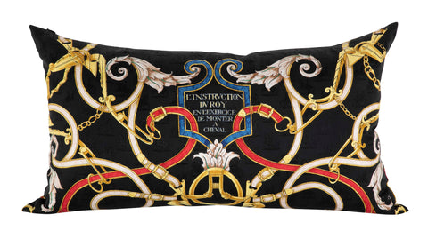 """L'Instruction du Roy"" Vintage Hermes Silk Pillow by Henri d'Origny"