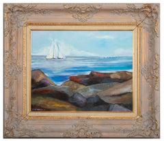 "Painting by Roger Brown ""Bam Sailing"""