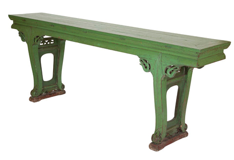 19th Century Chinese Altar Table of Elm Wood