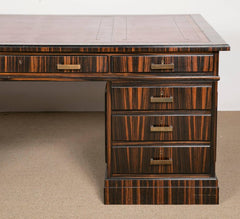 Macassar Ebony Pedestal Desk by Waring & Gillow