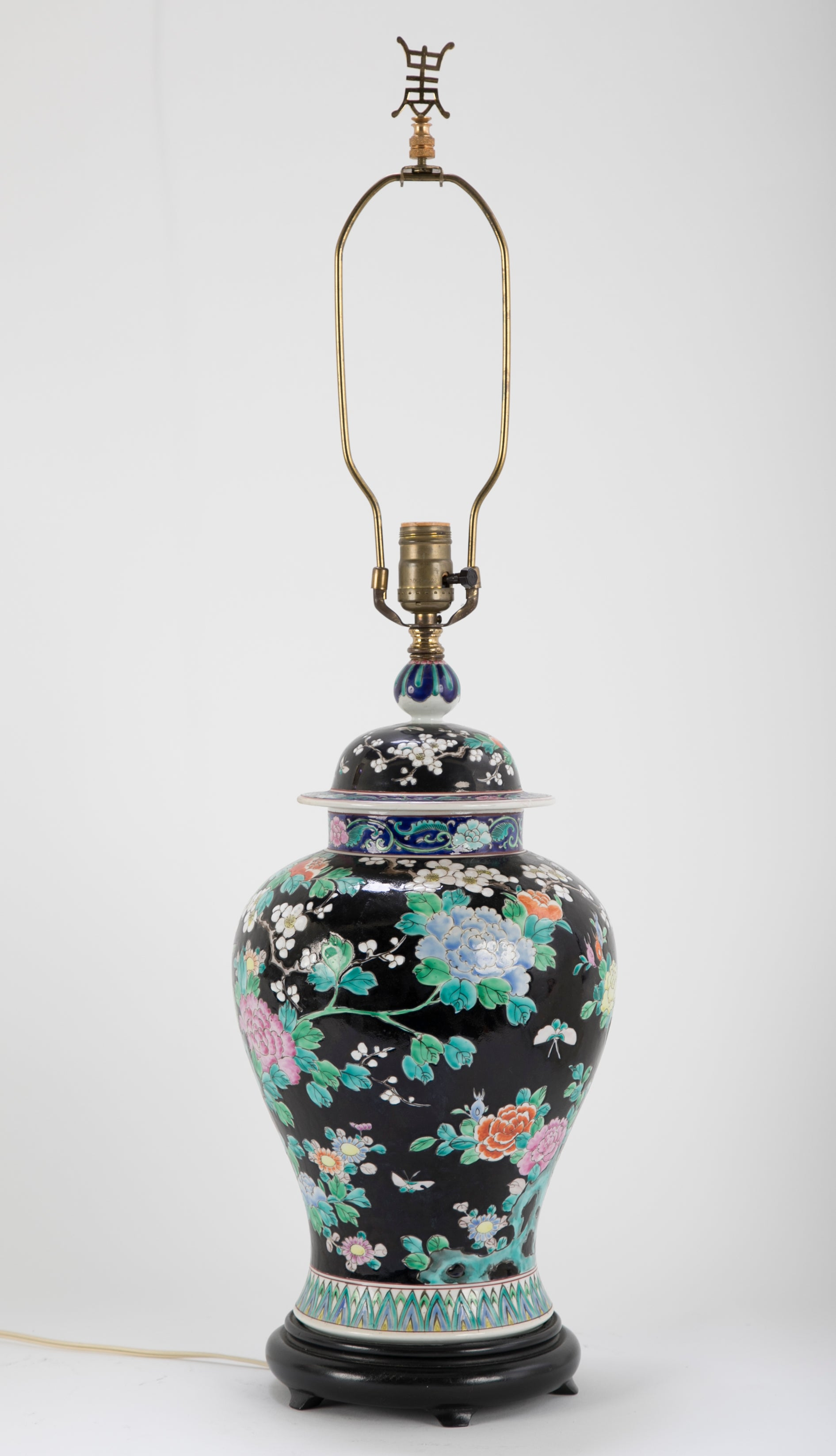 Chinese Famille Noire Lamp