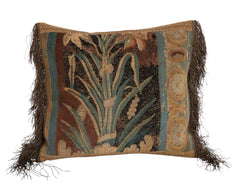 Custom Pillow made from 18th Century Tapestry Fragment
